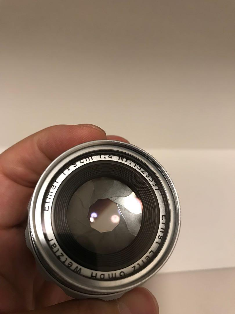 Leica elmar 90mm f4 M mount collapsible