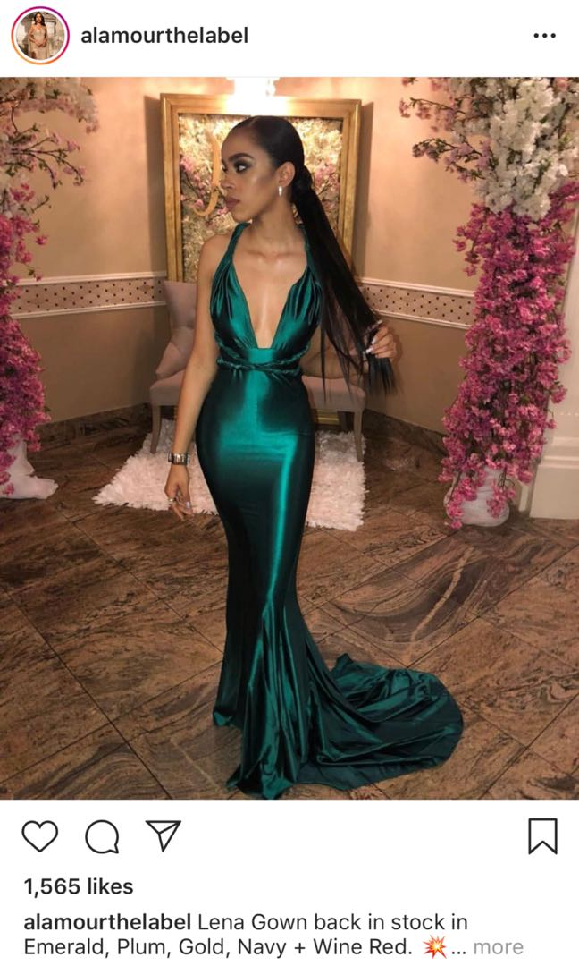 47b82023fbd LENA GOWN ALAMOUR THE LABEL