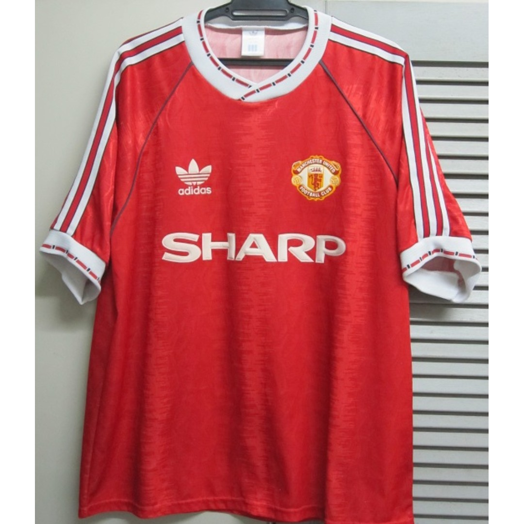 various colors 35cfb 50d83 MANCHESTER UNITED 1990/91 HOME JERSEY