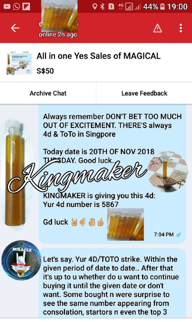 Mega sales for option E MAGICAL MIRACLE OIL and etc