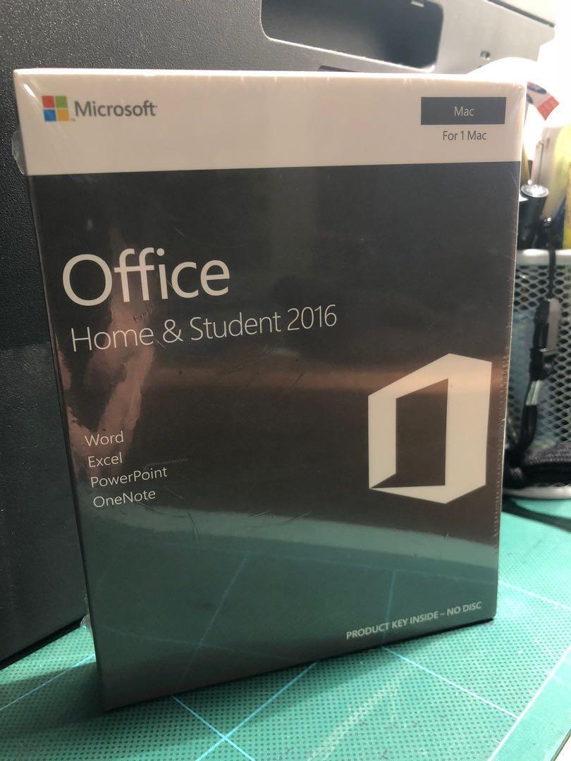 Microsoft Office 2016 (Home & Student) for Mac (BNIB)