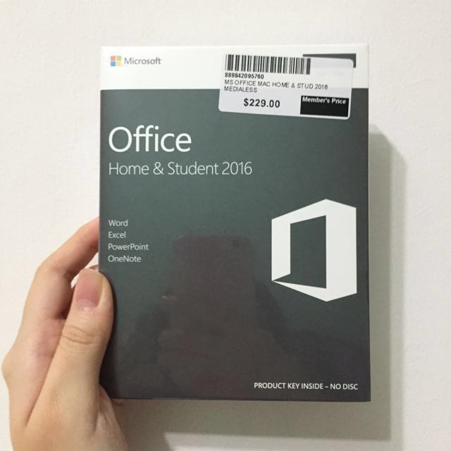 software ms-office home & student 2016