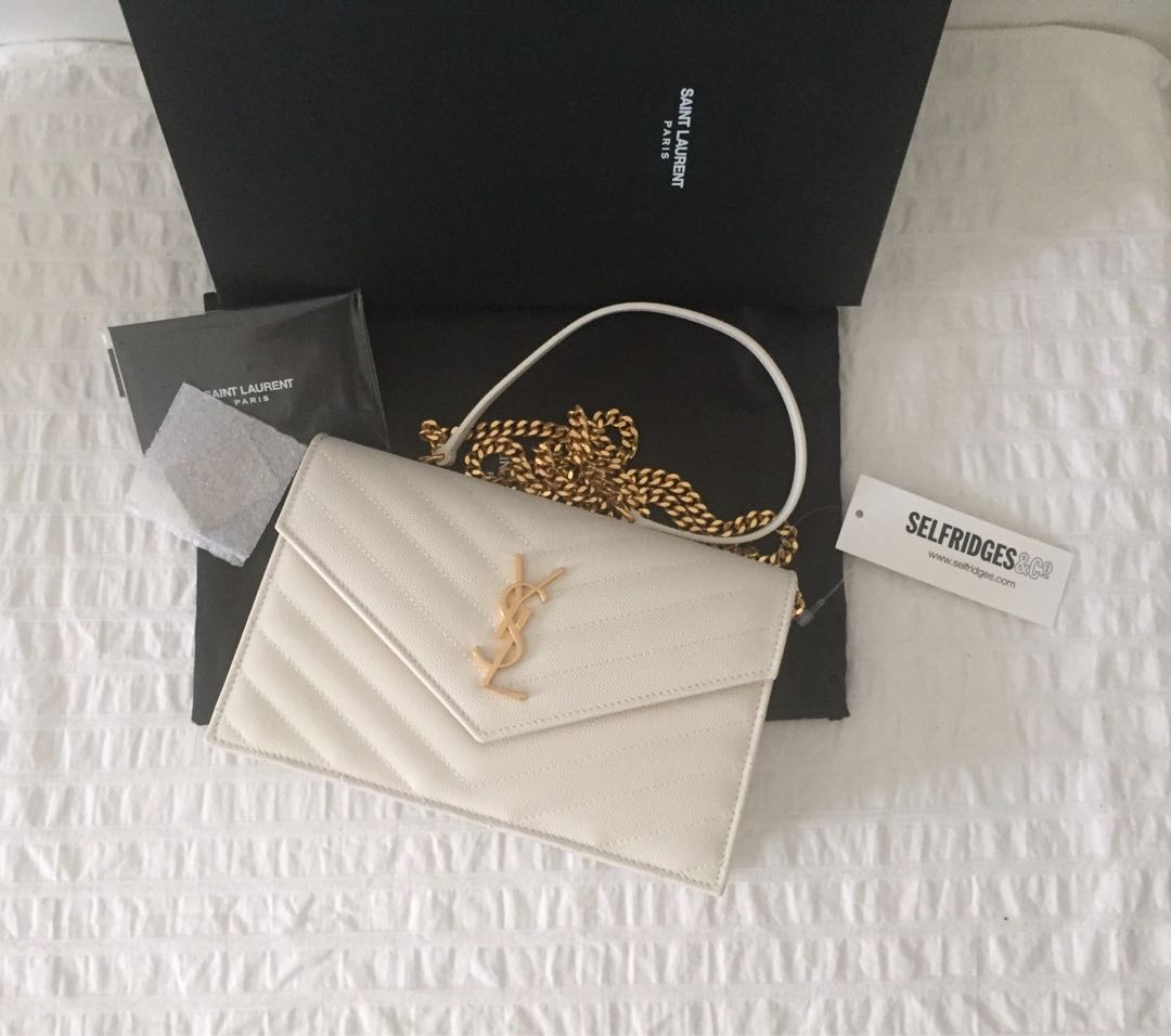 361baeed23ec New w receipt  Authentic Saint Laurent YSL Monogram Envelope Clutch ...
