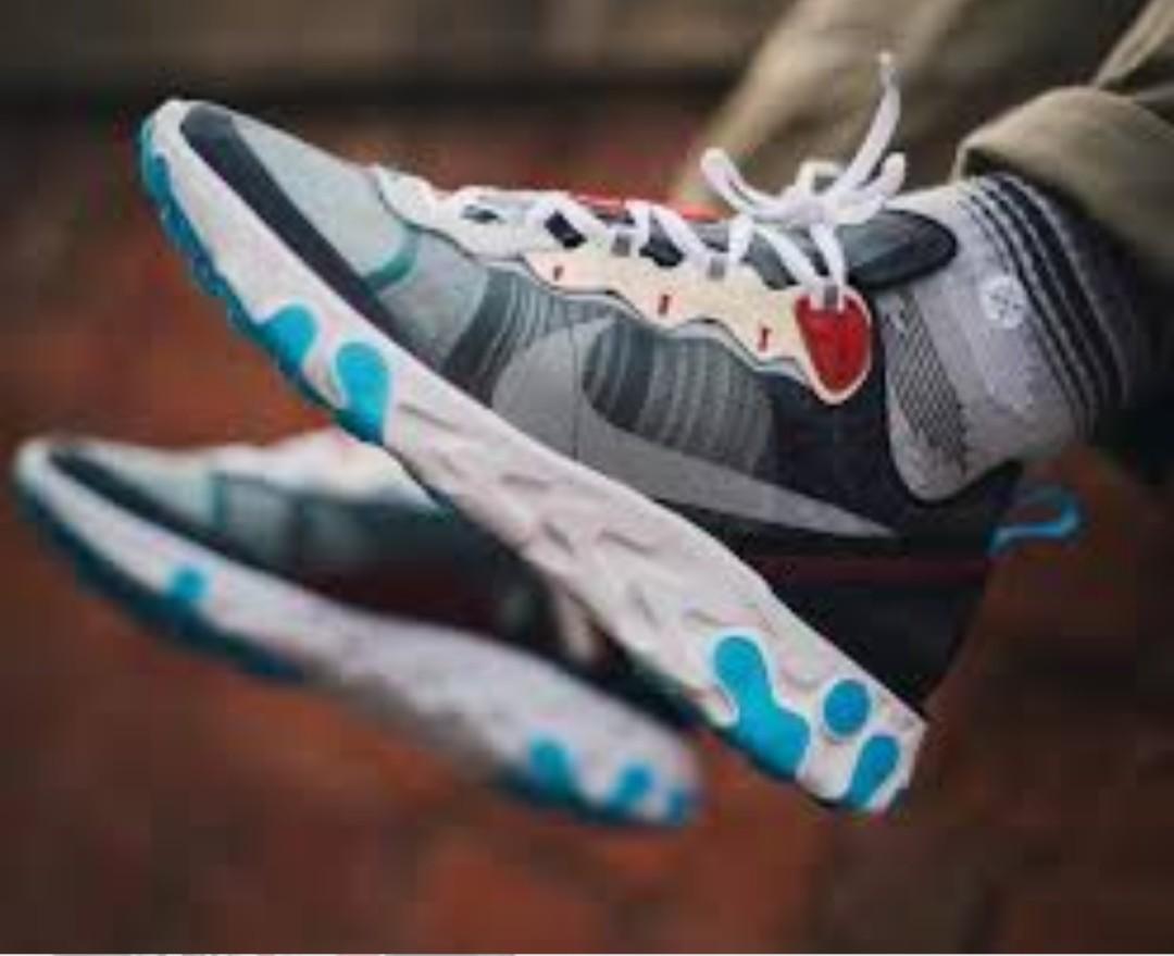 b1710d1fd88ec4 US11.5 Nike react element 87 dark grey photo blue  STEAL
