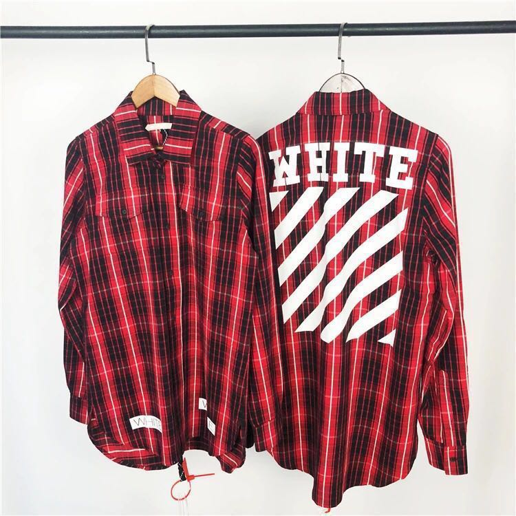 485cfc9f398a2 Off White 2016 Flannel Red Check Shirt