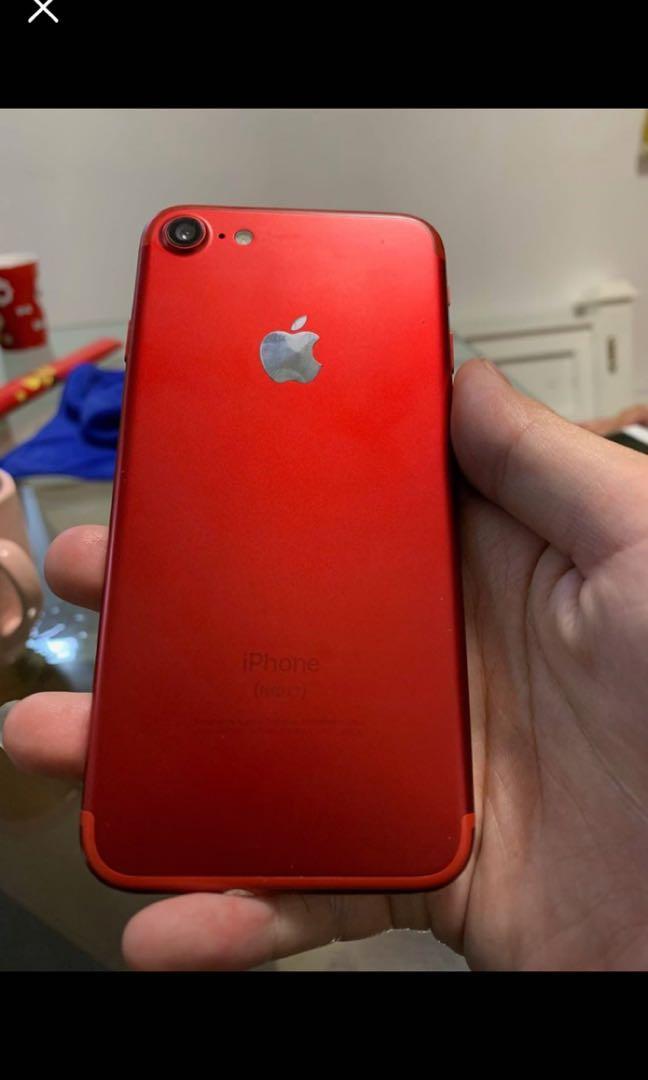 Original iPhone 7 red edition 256gb iphone7