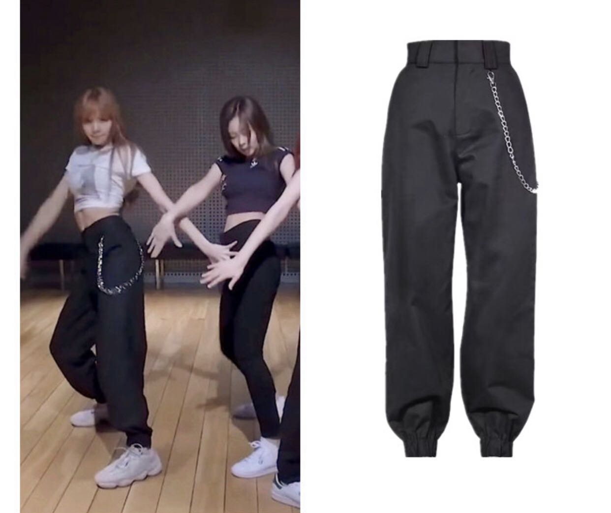 Po Blackpink Lisa Chain Pants 07 Women S Fashion Clothes Pants