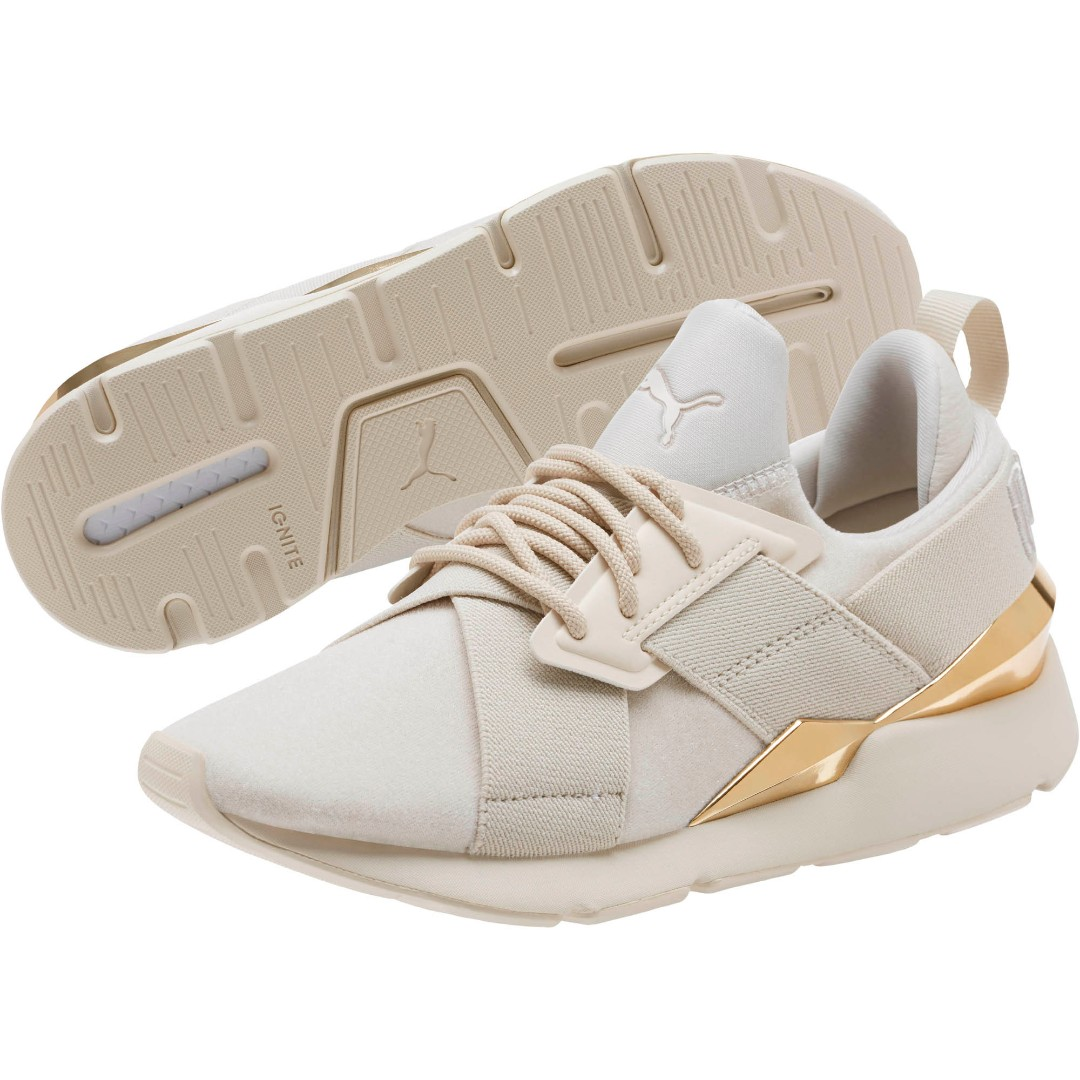 795707debcc (PO) Exclusive Puma Womens Muse Metal Beige Gold