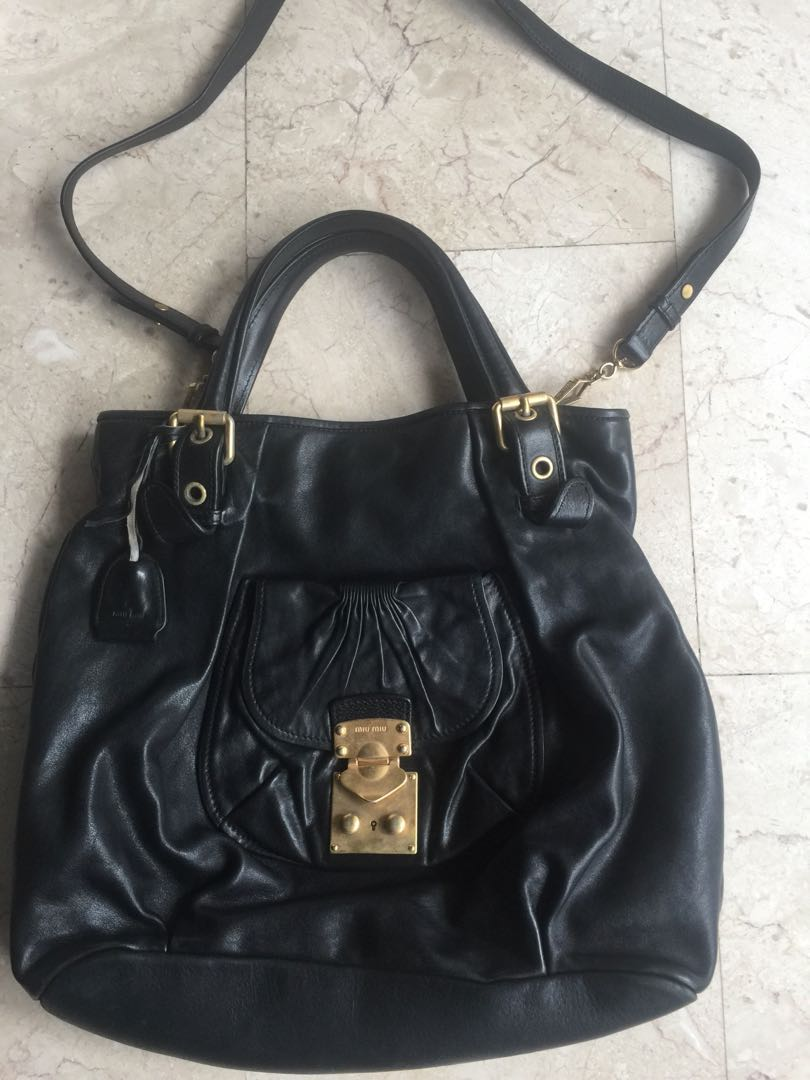 1dd4f8e2ac2a Pre loved Authentic Miu Miu leather bag