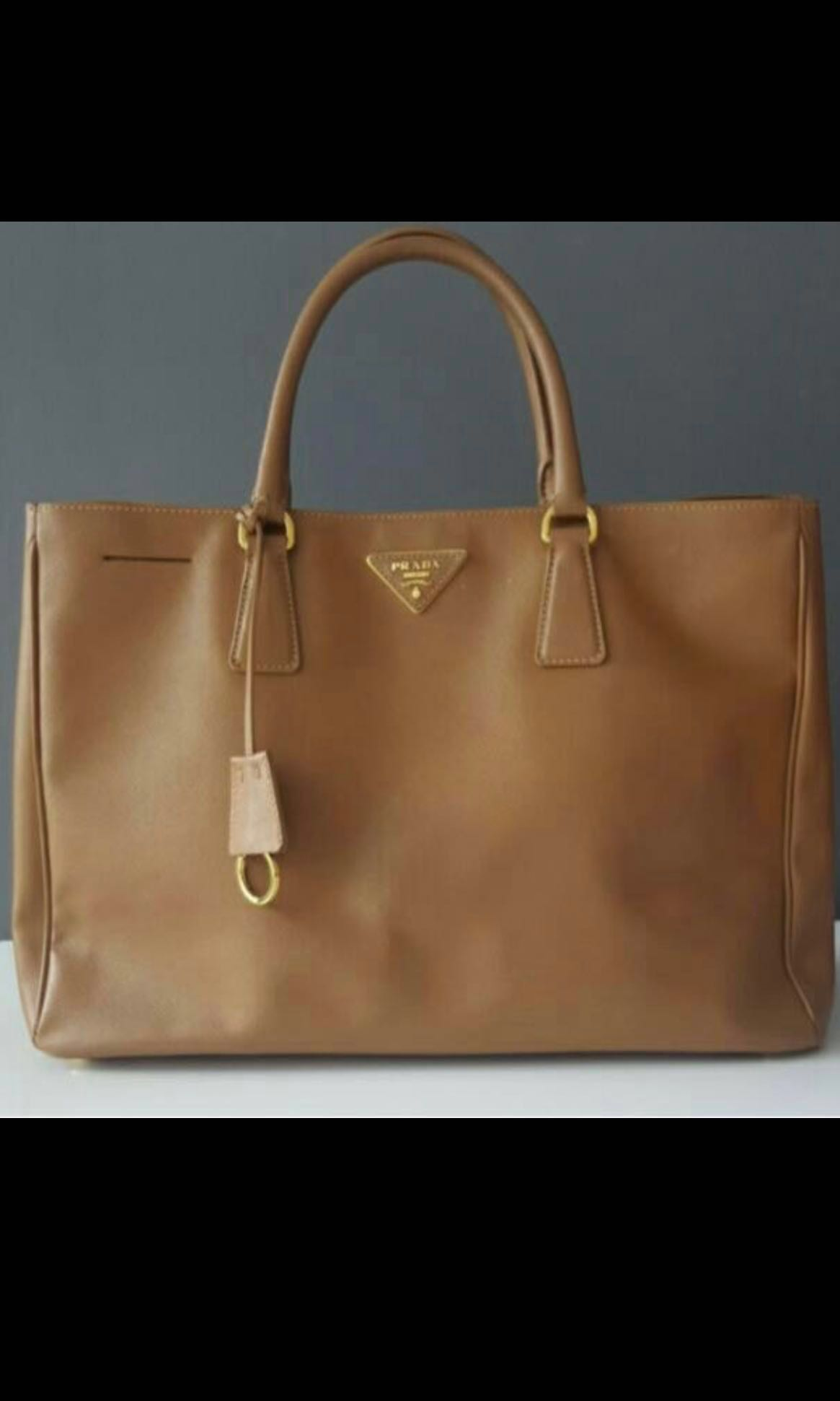 cbee4db27552 SALE 👜Authentic PRADA Brown Leather Saffiano, Luxury, Bags ...