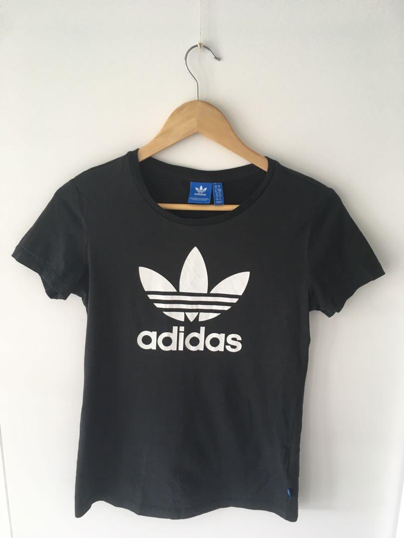 Size 10 UK Black Adidas t-shirt