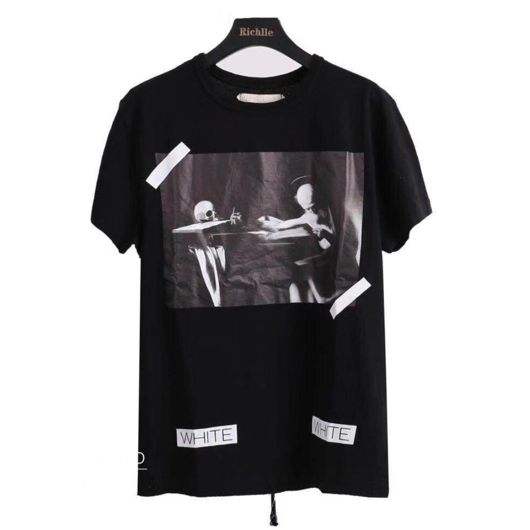 932cc2be6b50 STEAL  Off White 14FW Black Caravaggio Tee  XXS.XS.M.L