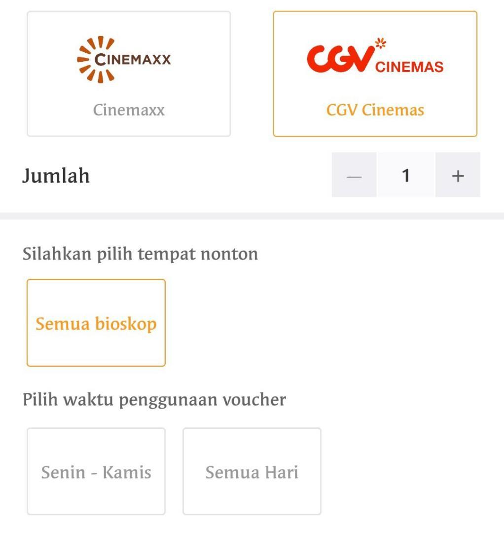Tiket Nonton Cinemax And Cgv Cinemas Tickets Vouchers Events