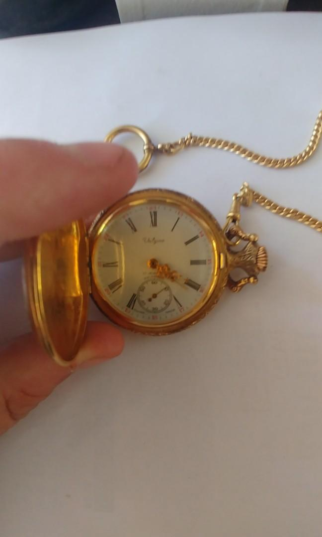 Vintage Valgine 17 Jewels Incabloc Gold Pocketwatch