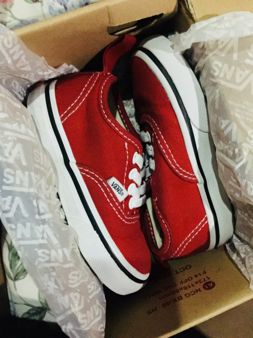 e27d612994637e VANS auth. Red Toddlers size  Free shipping