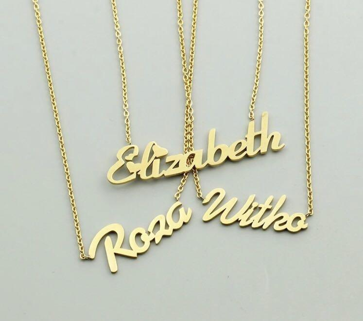 Women's custom name necklace