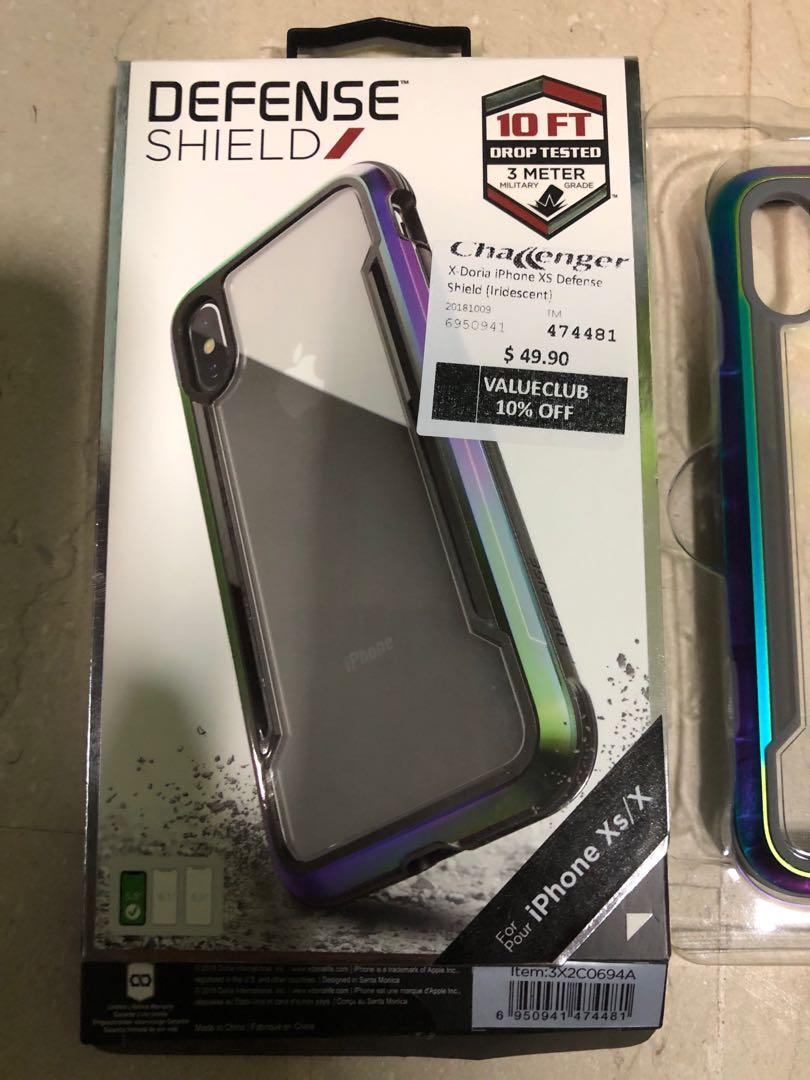 c1bfff88ac X-Doria iPhone X / Xs Defense Shield Case (Iridescent), Mobile ...