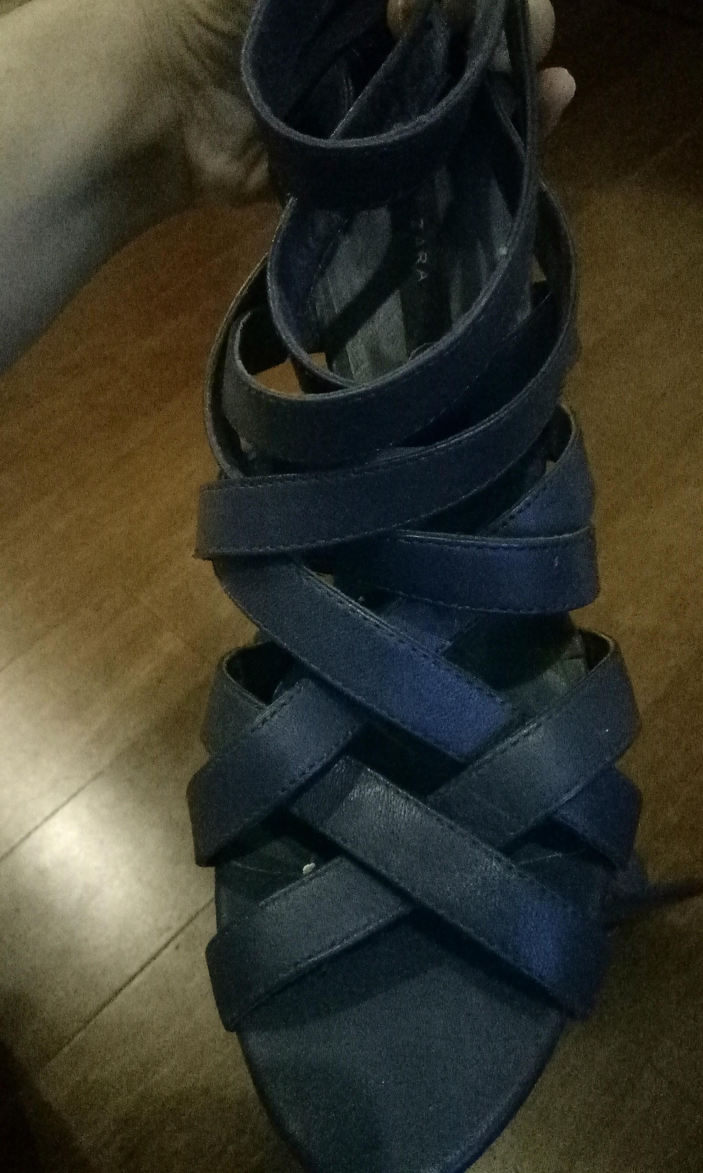 Zara Navy Heels