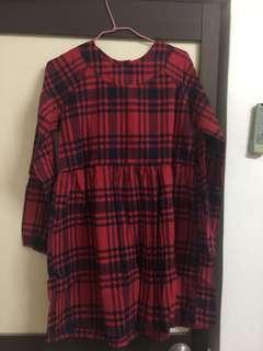 🚚 紅黑格子洋裝