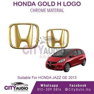 HONDA JAZZ GE 2013 Type R **Gold H Logo ( Front & Rear )