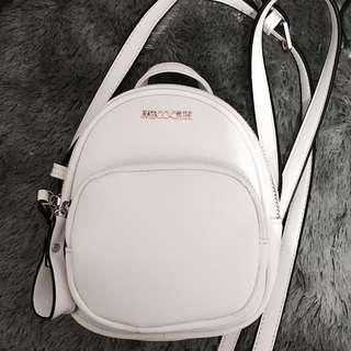 Micocah Oval Crossbody Bag | Small Backpack | White | Slingbag