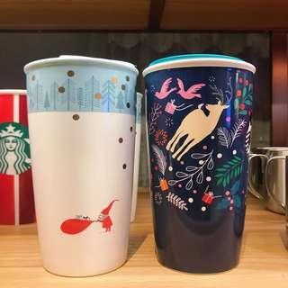 代購台灣Starbucks2018聖誕節限定隨身瓶 保溫杯
