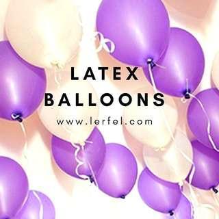 Pearl Latex Balloons - 100 Pieces (Purple / White) - Proposal / Wedding / Anniversary / Birthday / Christmas