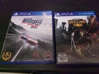 Ps4 Games need for speed rivals and infamous second son