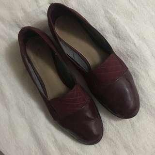 Charles and Keith Burgundy Loafers