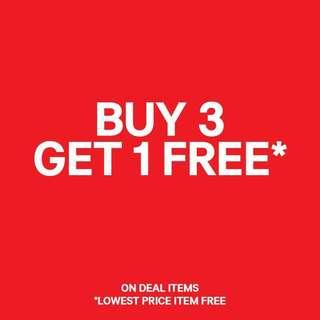 BUY 3 FREE 1 (Limited Time Only)