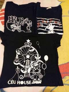 $40/3件 不出價者免問 只做順豐到付 議價免問 不面交 不量度尺寸Ceu t-shirt tee