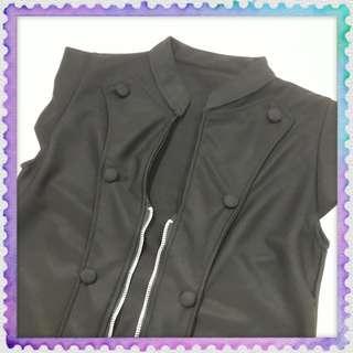 Punk Rock style Black Sleeveless Shirt (used)