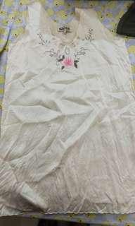🚚 (2手)白色舒適睡衣 XL