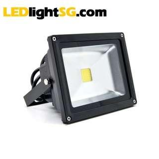 20W LED Floodlight IP67 waterproof outdoor lamp flood light 1yr warranty Taiwan LED (White 6000K)