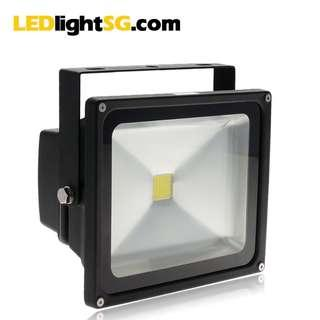 30W LED Floodlight 1 yr warranty (white) IP67 water proof outdoor lamp flood light Taiwan LED