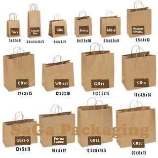 Kraft Paper Bag with Paper Twine Handle