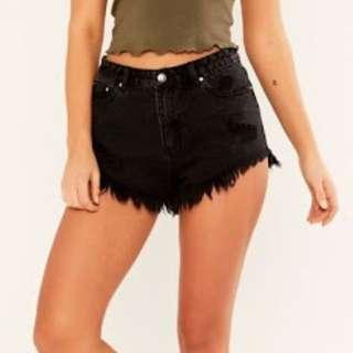 Glassons denim shorts - Black