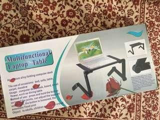 Multi functional laptop table