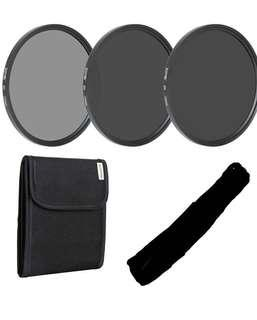 💯% UNUSED Zomei 72mm ND2 ND4 ND8, Neutral Density Filter set w pouch - & protect your large lens