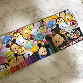 Disney Tsum Tsum 50色木顏色筆 (日本景品)
