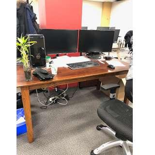 Solid Wood Table Needs to sell **OFFICE SELLING OFF FURNITURE*