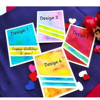 🚚 Watercolour Greeting Cards (Customisable)