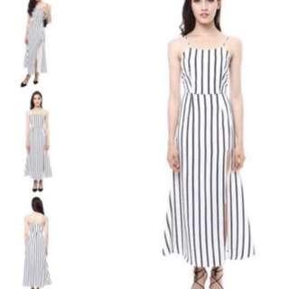 Mds slit maxi dress