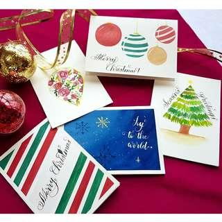 🚚 Watercolour Christmas Greeting Cards