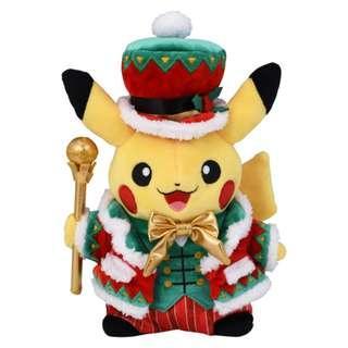 定購  日本 Pokemon Centre 限定 聖誔特別版 比卡超, 伊貝, 超夢夢