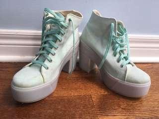 Shellys London - mint platform heels size 38