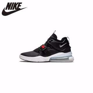 07ce89683bc89 10 days ago. NIKE AIR FORCE 270 Black Silver Function Will Air Cushion  Motion Running Shoes For Men Sneakers