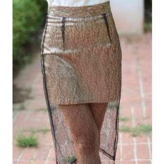 TEM lace skirt