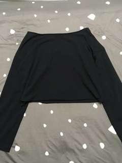 平口黑色長袖