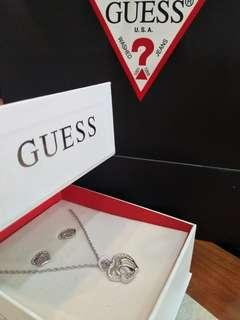 Guess  Necklace and Earrings Set